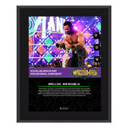 Seth Rollins WrestleMania 34 10 x 13 Photo Plaque