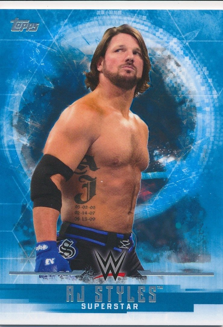 2017 WWE Undisputed Wrestling Cards (Topps) AJ Styles (No.2)