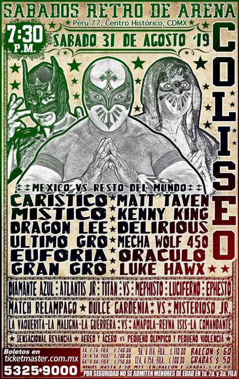 CMLL Sabados De Coliseo (August 31, 2019)