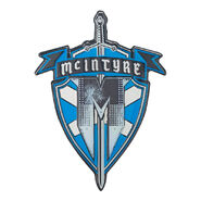 Drew McIntyre Claymore Coat Of Arms Limited Edition Logo Pin