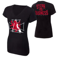 Stephanie McMahon Steph For Business Women's V-Neck T-Shirt