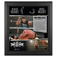 NXT Takeover One Final Beat Limited Edition 15 x 17 Plaque
