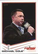 2013 WWE (Topps) Michael Cole 24