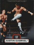 2010 WWE Platinum Trading Cards Justin Gabriel 101