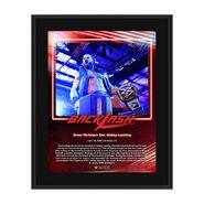 Drew McIntyre Backlash 2020 10x13 Commemorative Plaque