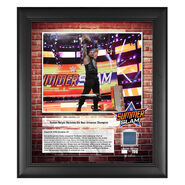 Roman Reigns SummerSlam 2018 15 x 17 Framed Plaque w Ring Canvas