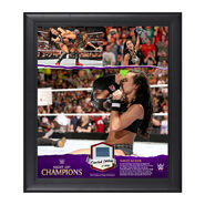 AJ Lee Night of Champions 15 x 17 Commemorative Framed Ring Canvas Plaque