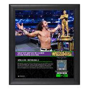 Matt Hardy WrestleMania 34 15 x 17 Framed Plaque w Ring Canvas