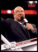 2017 WWE Wrestling Cards (Topps) Paul Heyman 28