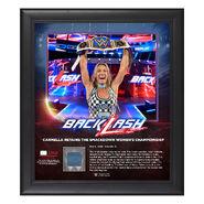 Carmella BackLash 2018 15 x 17 Framed Plaque w Ring Canvas