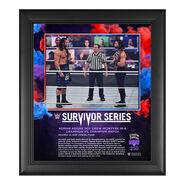 Roman Reigns Survivor Series 2020 15 x 17 Commemorative Plaque