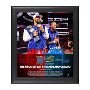 The Usos Survivor Series 2017 15 x 17 Framed Plaque w Ring Canvas