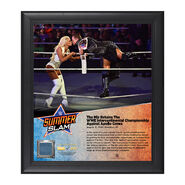 The Miz SummerSlam 2016 15 x 17 Framed Plaque w Ring Canvas