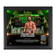 Jinder Mahal Money in the Bank 2017 15 X 17 Framed Plaque w Ring Canvas