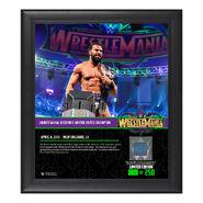 Jinder Mahal WrestleMania 34 15 x 17 Framed Plaque w Ring Canvas