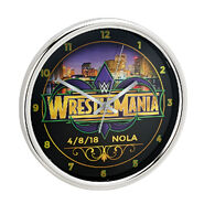 WrestleMania 34 12 Chrome Wall Clock