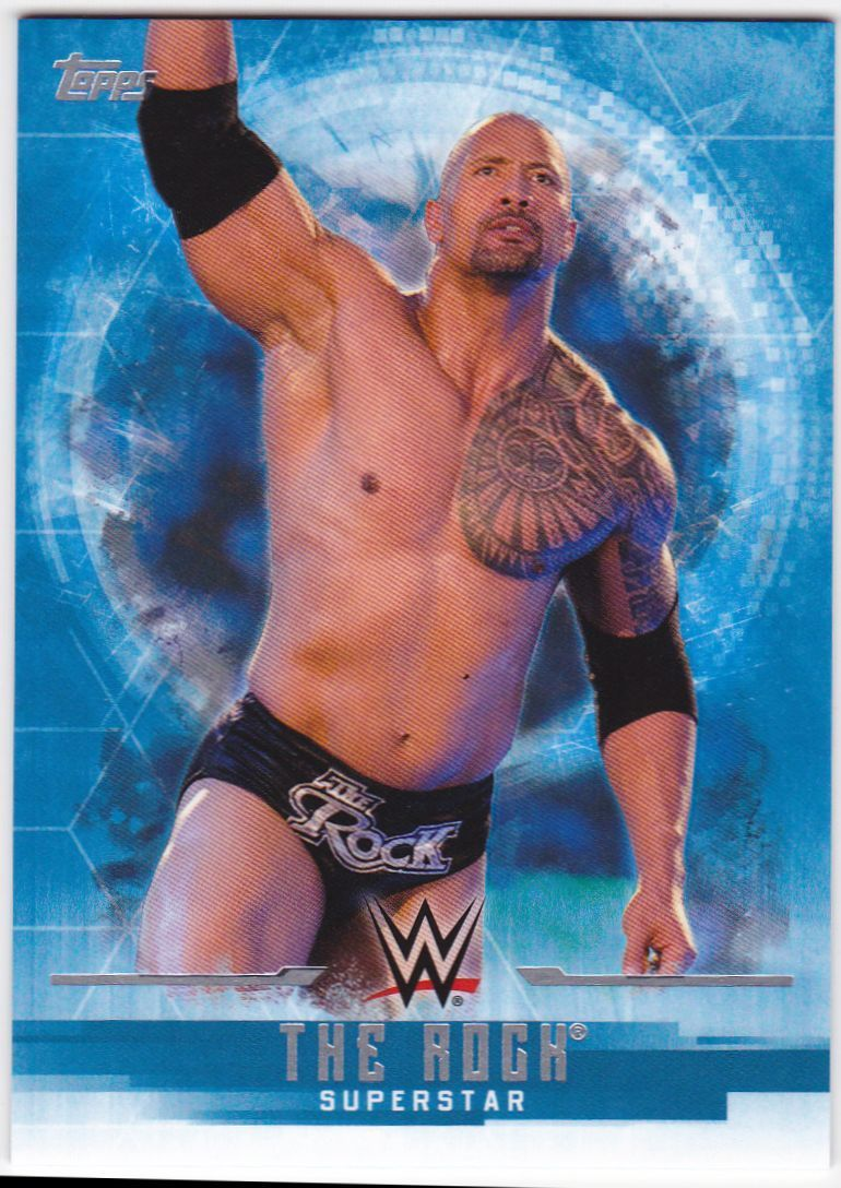 2017 WWE Undisputed Wrestling Cards (Topps) The Rock (No.29)