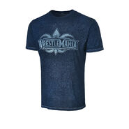 WrestleMania 34 Logo Acid Wash Blue T-Shirt