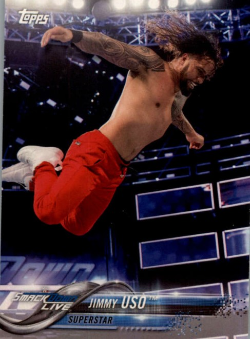 2018 WWE Wrestling Cards (Topps) Jimmy Uso (No.41)