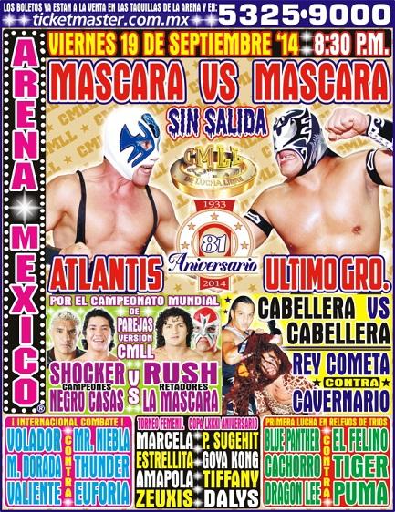 CMLL 81st Anniversary Show