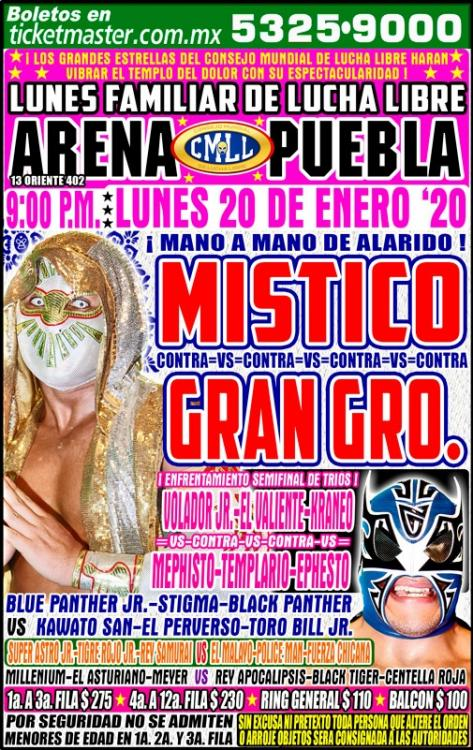 CMLL Lunes Arena Puebla (January 20, 2020)