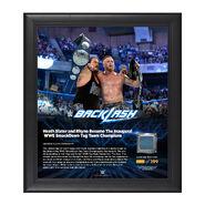 Heath Slater and Rhyno Backlash 2016 15 x 17 Framed Plaque w Ring Canvas
