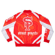 Street Profits Red Fanimation Chalk Line Jacket