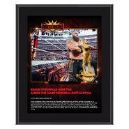 Braun Strowman WrestleMania 35 10 x 13 Commemorative Plaque