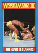 1987 WWF Wrestling Cards (Topps) The Giant Is Slammed 54