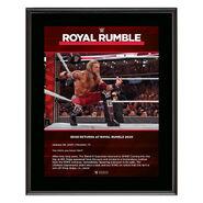 Edge Returns Royal Rumble 2020 10x13 Commemorative Plaque