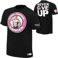 John Cena Rise Above Cancer Black T-Shirt