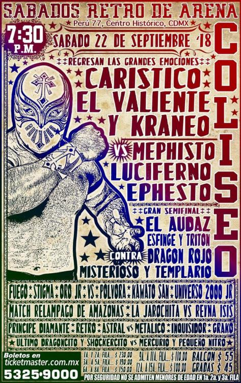 CMLL Sabados De Coliseo (September 22, 2018)