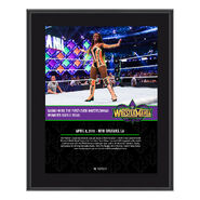 Naomi WrestleMania 34 10 x 13 Photo Plaque