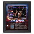 Braun Strowman & Bobby Lashley BackLash 2018 15 x 17 Framed Plaque w Ring Canvas
