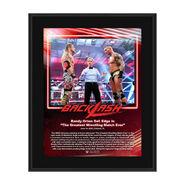 Randy Orton Backlash 2020 10x13 Commemorative Plaque