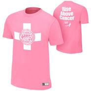 Antonio Cesaro Rise Above Cancer Pink Authentic T-Shirt