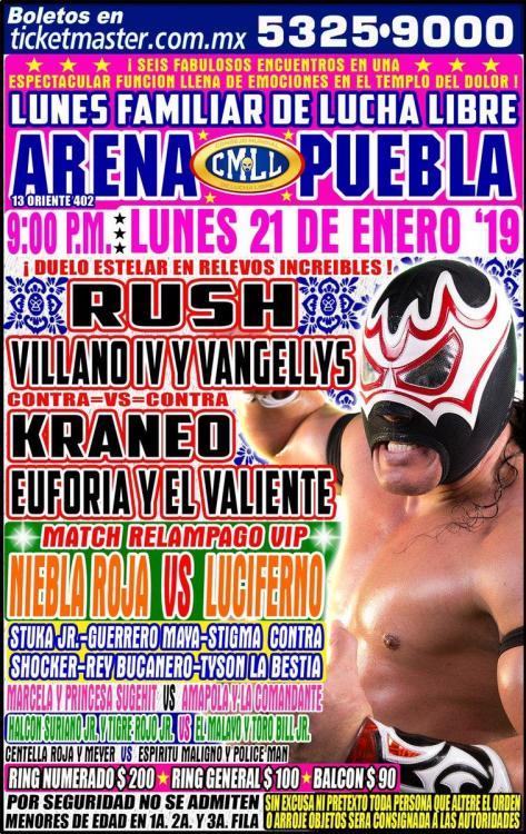 CMLL Lunes Arena Puebla (January 21, 2019)