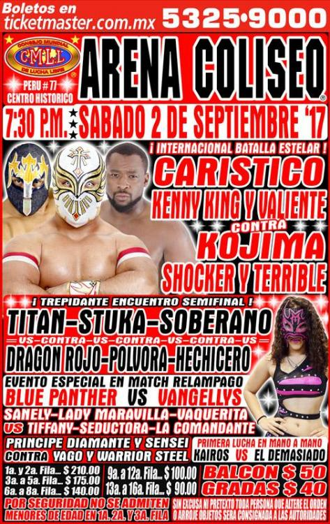CMLL Sabados De Coliseo (September 2, 2017)