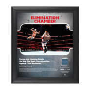 Sheamus & Cesaro Elimination Chamber 2018 15 x 17 Framed Plaque w Ring Canvas