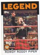 2016 WWE Heritage Wrestling Cards (Topps) Rowdy Roddy Piper 101