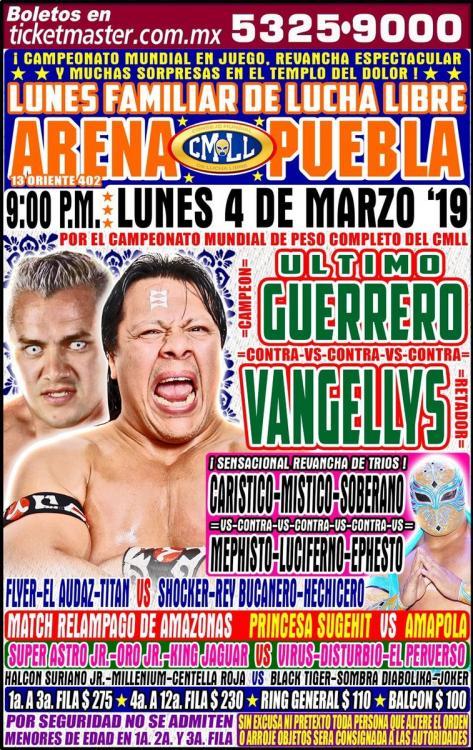 CMLL Lunes Arena Puebla (March 4, 2019)