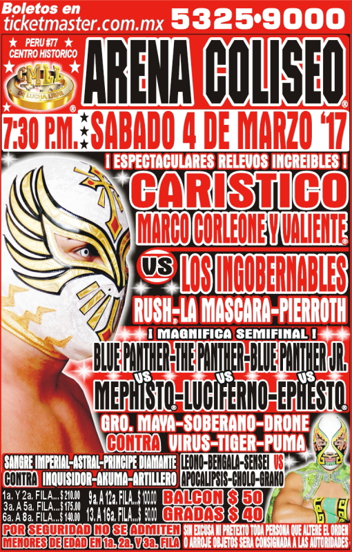 CMLL Sabados De Coliseo (March 4, 2017)
