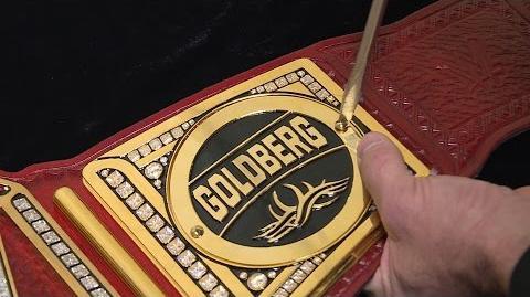 Goldberg's new Universal Championship gets custom plates Raw Exclusive, March 6, 2017