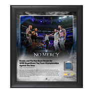 Rhyno and Slater No Mercy 2016 15 x 17 Framed Plaque w Ring Canvas