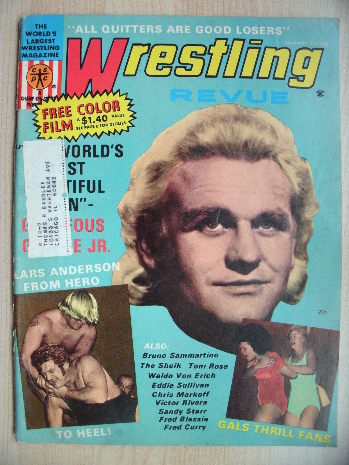 Wrestling Revue - November 1970