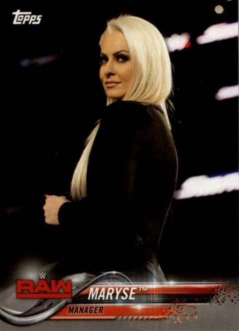 2018 WWE Wrestling Cards (Topps) Maryse (No.54)