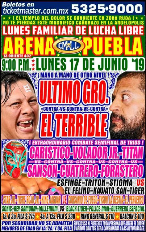 CMLL Lunes Arena Puebla (June 17, 2019)