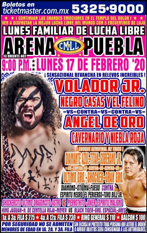 CMLL Lunes Arena Puebla (February 17, 2020)