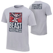 Brock Lesnar & Paul Heyman Beast For Business Youth Authentic T-Shirt