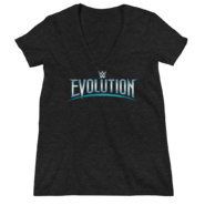 WWE Evolution 2018 Logo Women's Deep V-Neck T-Shirt